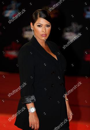 French TV host Ayem Nour arrives for the 21st NRJ Music Awards at the Palais des Festivals in Cannes, France, 09 November 2019.