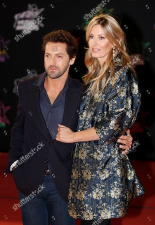 Frederic Diefenthal (L) (L) and a guest arrive for the 21st NRJ Music Awards at the Palais des Festivals in Cannes, France, 09 November 2019.