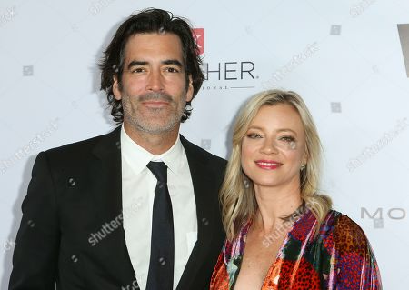 Stock Photo of Carter Oosterhouse and Amy Smart