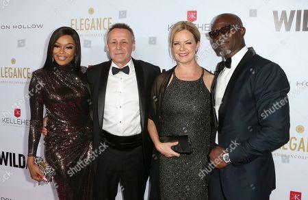 Bonang Matheba, Peter Knights, Corie Knights and Djimon Hounsou