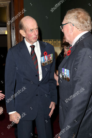 Prince Edward, Duke of Kent attends the annual Royal British Legion Festival of Remembrance at the Royal Albert Hall