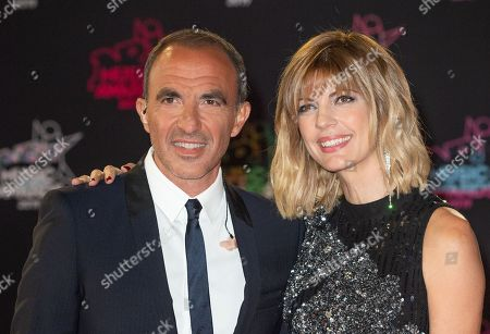 Stock Photo of Nikos Aliagas and Tina Grigoriou