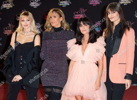 Angele, Charlotte Gonin ' Vitaa ', Jenifer and Clara Luciani