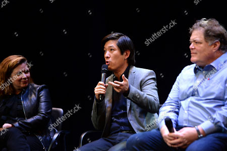 Elaine Frontain Bryant, Dan Lin, Banks Tarver as seen at the Produced By: New York Conference at Florence Gould Hall, in New York