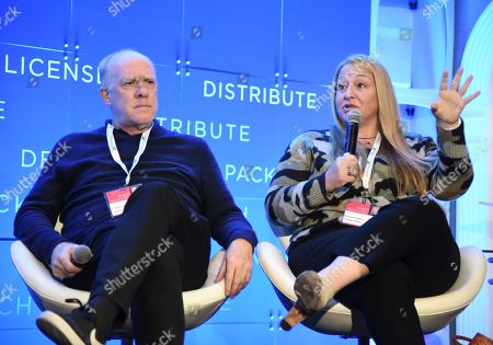 Stock Image of Cassian Elwes, Producer, ELEVATED, Monica Levinson, President of Production, ShivHans Pictures