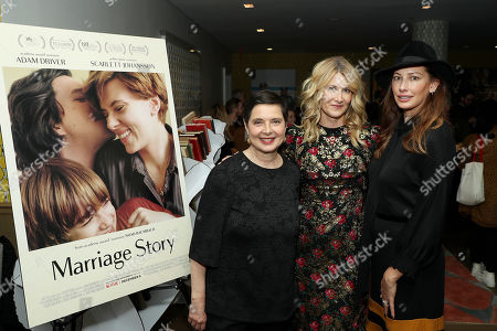 Stock Picture of Isabella Rossellini, Laura Dern and Jill Vedder