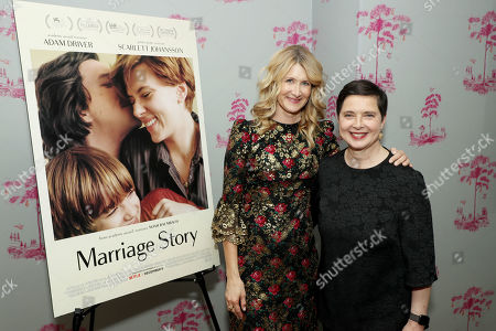 Stock Picture of Laura Dern and Isabella Rossellini