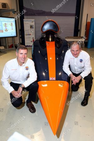 Andy Green, driver of Bloodhound SSC, and Richard Noble