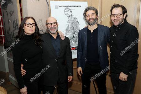 Maura Tierney, Scott Z Burns (Producer, Director), Oscar Isaac (Co-Host) and Sam Gold (Co-Host)