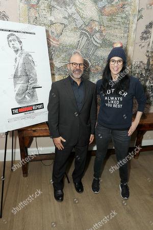 Stock Image of Scott Z Burns (Producer, Director) and Sarah Silverman