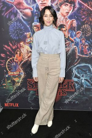 """Carmen Cuba attends the """"Stranger Things"""" season 3 screening event at Linwood Dunn Theater, in Los Angeles"""