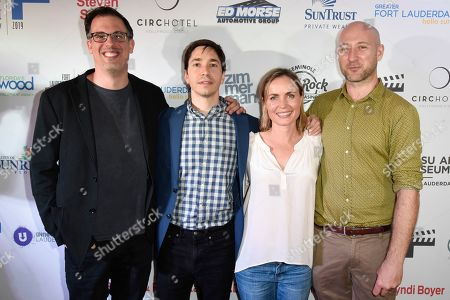 Stock Image of Daniel Schechter, Justin Long, Radha Mitchell and Ben Hackworth