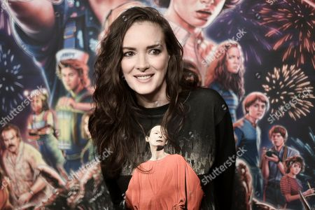 "Stock Image of Winona Ryder attends the ""Stranger Things"" season 3 screening event at Linwood Dunn Theater, in Los Angeles"