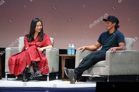 Elizabeth Chai Vasarhelyi, Jimmy Chin. Elizabeth Chai Vasarhelyi, left, and Jimmy Chin seen on day two of Summit LA19 in Downtown Los Angeles, in Los Angeles