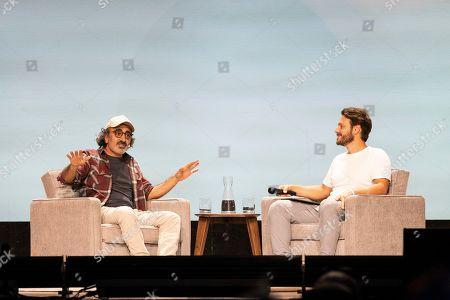 Hamdi Ulukaya, Elliott Bisnow. Hamdi Ulukaya, left, and Elliott Bisnow seen on day two of Summit LA19 in Downtown Los Angeles, in Los Angeles