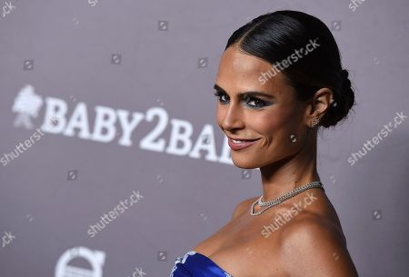 Jordana Brewster arrives at the 2019 Baby2Baby Gala, in Culver City, Calif