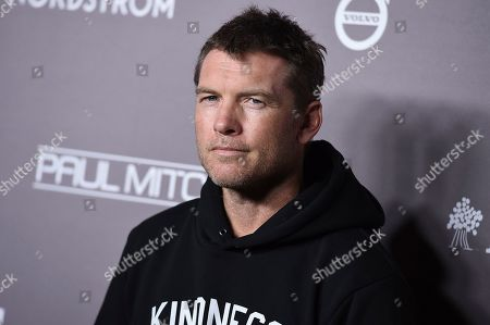 Sam Worthington arrives at the 2019 Baby2Baby Gala, in Culver City, Calif