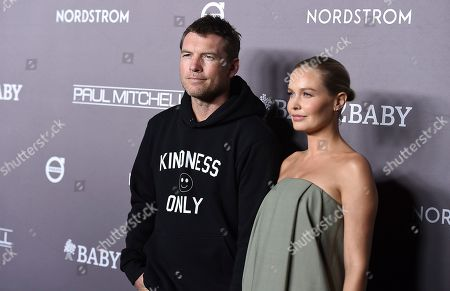 Sam Worthington, Lara Worthington. Sam Worthington and Lara Worthington arrive at the 2019 Baby2Baby Gala, in Culver City, Calif