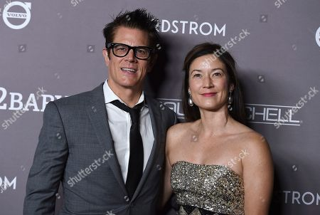 Johnny Knoxville, Naomi Nelson. Johnny Knoxville and Naomi Nelson arrive at the 2019 Baby2Baby Gala, in Culver City, Calif