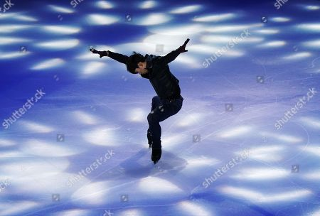 Stock Image of Keiji Tanaka of Japan in action during the Exhibition Program event at the 2019 SHISEIDO Cup of China ISU Grand Prix of Figure Skating in Chongqing, China, 10 November 2019.