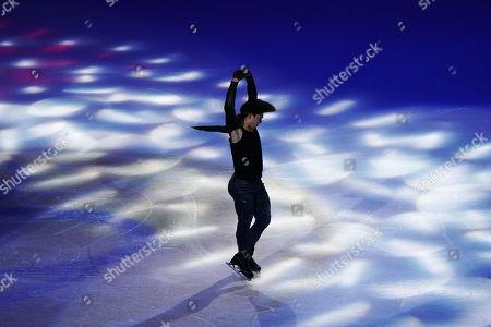 Keiji Tanaka of Japan in action during the Exhibition Program event at the 2019 SHISEIDO Cup of China ISU Grand Prix of Figure Skating in Chongqing, China, 10 November 2019.