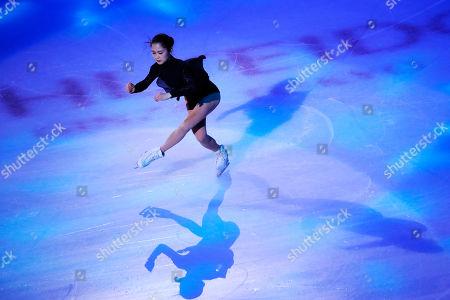 Satoko Miyahara of Japan in action during the Exhibition program at the 2019 SHISEIDO Cup of China ISU Grand Prix of Figure Skating in Chongqing, China, 10 November 2019.