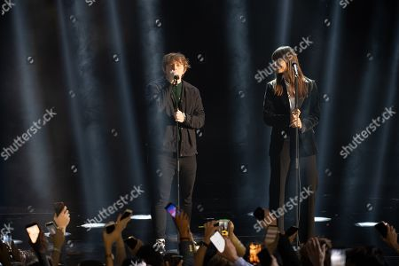 Stock Picture of Lewis Capaldi and Clara Luciani