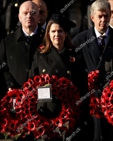 Jo Swinson, leader of the Liberal Democrats attends the Remembrance Sunday ceremony at the Cenotaph in Whitehall in London,. Remembrance Sunday is held each year to commemorate the service men and women who fought in past military conflicts