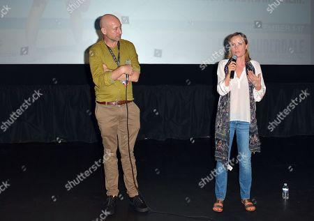 Ben Hackworth and Radha Mitchell