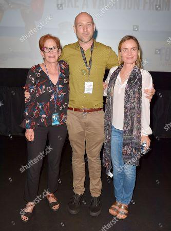Estelle Fineberg, Ben Hackworth and Radha Mitchell
