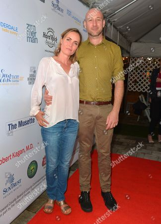 Radha Mitchell and Ben Hackworth