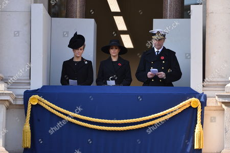 Sophie Countess of Wessex and Meghan Duchess of Sussex attend the annual remembrance ceremony marking the 101st anniversary of the end of the First World War.