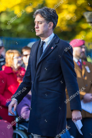 Stock Photo of Former Labour Party Leader Ed Milliband attending the Remembrance Sunday service in Doncaster this morning.