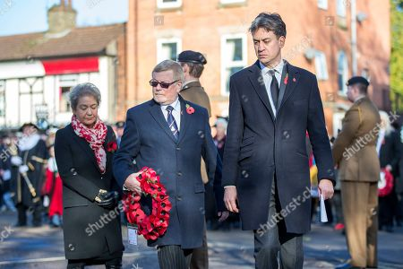 Stock Image of Former Labour Party Leader Ed Milliband & Labour MP Rosie Winterton attending the Remembrance Sunday service in Doncaster this morning.