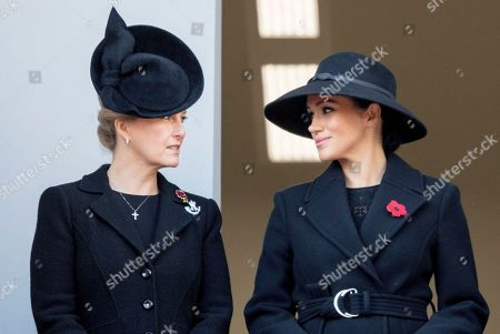 Meghan Duchess of Sussex with Sohie, Sophie Countess of Wessex