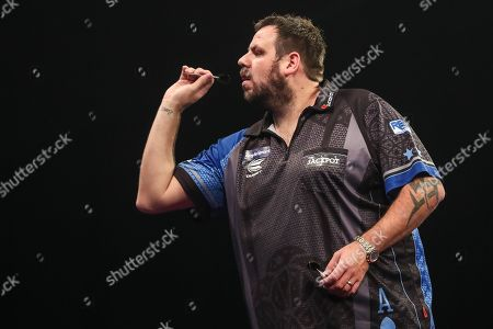 Stock Picture of Adrian Lewis during the Grand Slam of Darts, at Aldersley Leisure Village, Wolverhampton