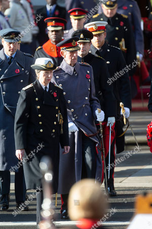 Princess Anne, Duke of Kent, Prince Edward, Prince Harry and Prince William.