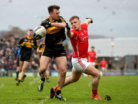 Stock Image of East Kerry vs Dr. Crokes. Dr Crokes' John Payne and Darragh Roche of East Kerry