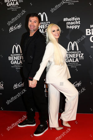 Stock Photo of Daniela Katzenberger and Lucas Cordalis