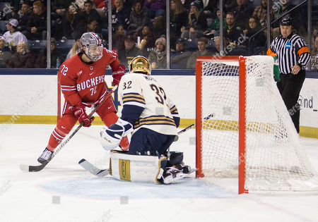 Editorial picture of NCAA Hockey Ohio State vs Notre Dame, South Bend, USA - 09 Nov 2019