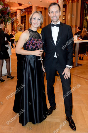 Stock Picture of Magdalena Neuner and Sven Hannawald