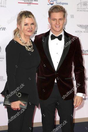 Stock Photo of Corinna Schumacher and Mick Schumacher