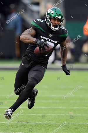 New York Jets wide receiver Demaryius Thomas during the second half of an NFL football game against the New York Giants, in East Rutherford, N.J
