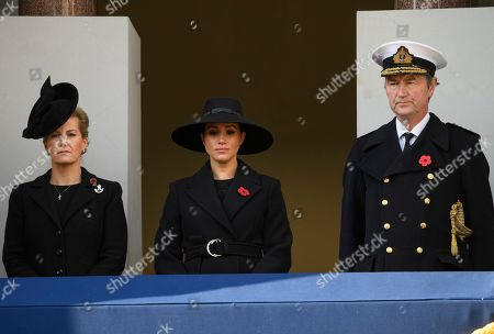 Sophie Countess of Wessex Meghan Duchess of Sussex and Tim Laurence