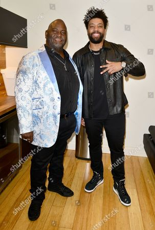 Lavell Crawford and DeRay Davis backstage