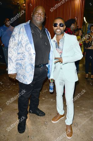 Lavell Crawford and Lil Duval backstage