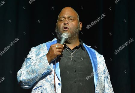 Stock Image of Lavell Crawford performs on stage