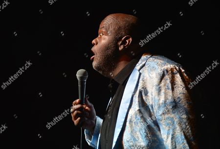 Stock Photo of Lavell Crawford performs on stage