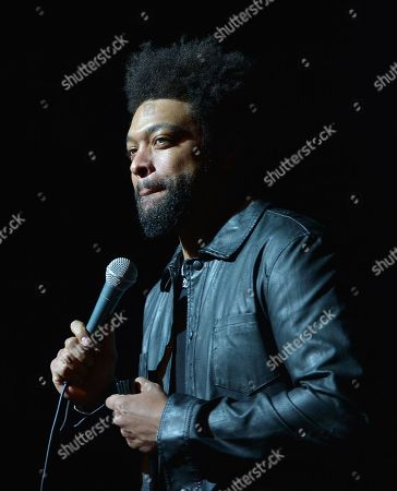 Stock Image of DeRay Davis performs on stage