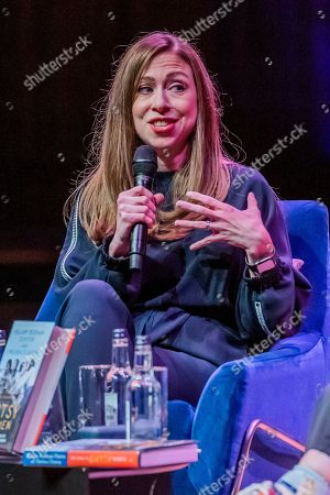 Chelsea Clinton discusses The Book of Gutsy Women with Mary Beard at Southbank Centre's Royal Festival Hall.